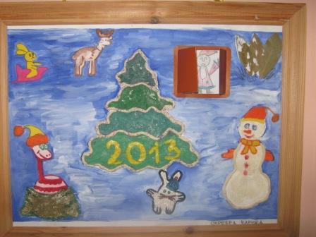 Новогодняя выставка работ детей подготовительной группы (совместное творчество с родителями)