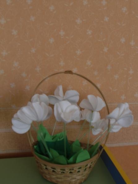 Поделка к акции белый цветок