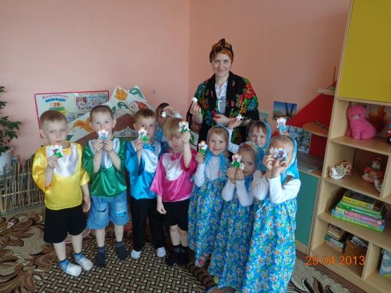 Цель 1 познакомить детей с народными