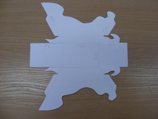 Сани из картона своими руками шаблон 70