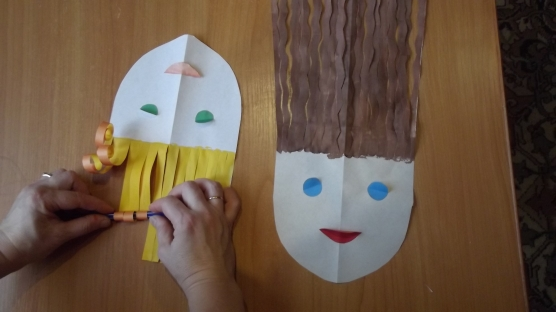 Волосы из бумаги