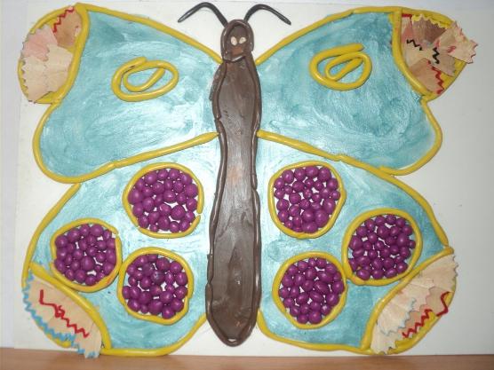 Конспект НОД для старших дошкольников по ОО «Художественное творчество». Тема «Бабочка— Красавица!»