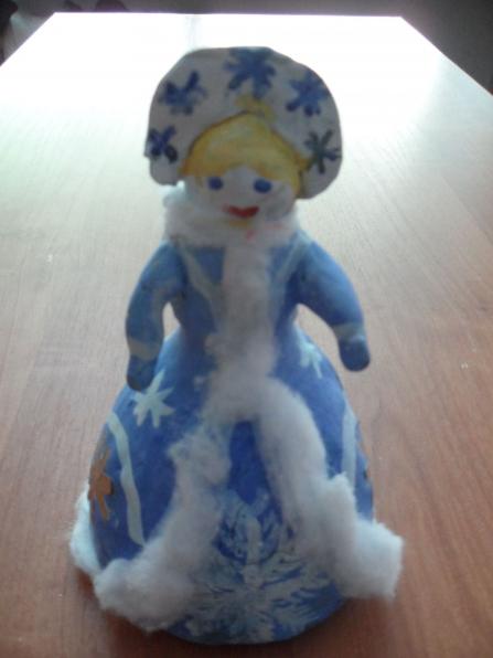 Как сделать снегурочку своими руками из пластиковой