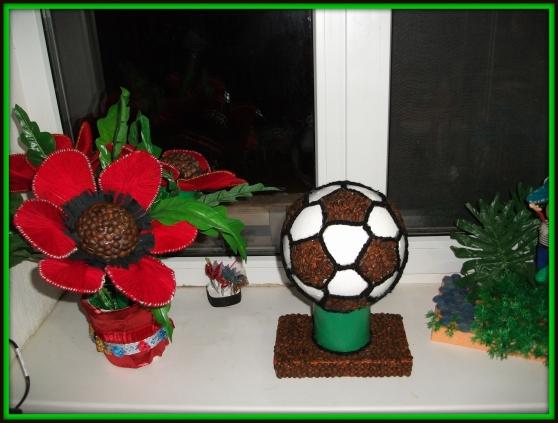 Кофейный футбольный мяч». Подарок