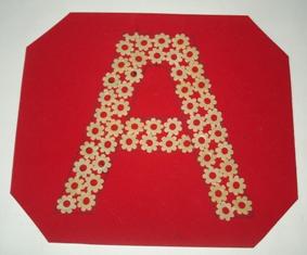 Буквы из макарон