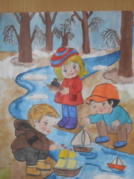 Детские роботы рисунок весны картинки 2 класс