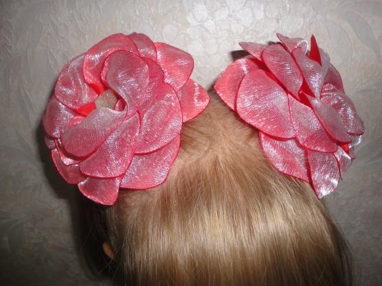 Увлечение — цветы из атласных лент