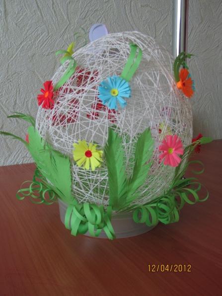 Яйца к пасхе своими руками из ниток
