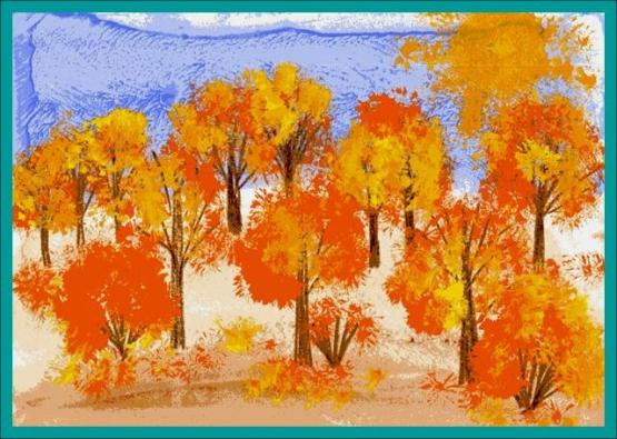 Урок рисования цветов акварелью на