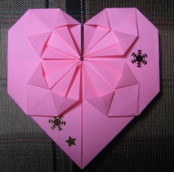 Оригами святой валентин