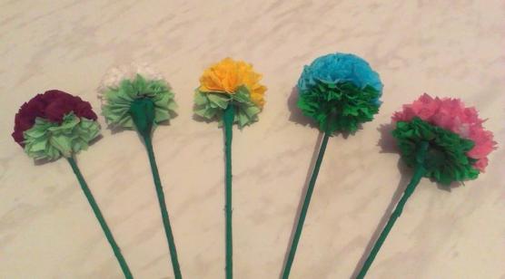 Техника изготовление цветов из гофрированной бумаги своими руками 185