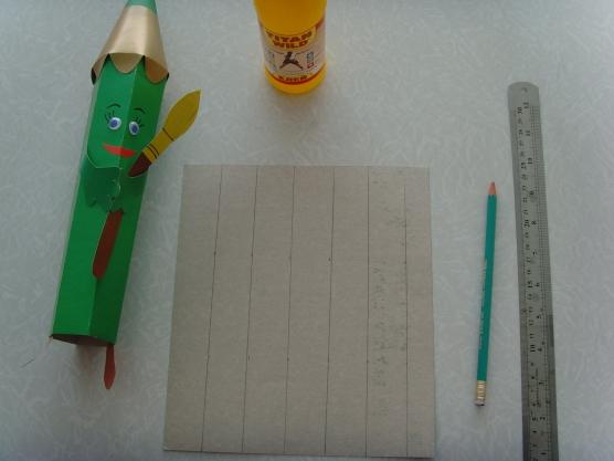 Как сделать объёмный карандаш из бумаги своими руками