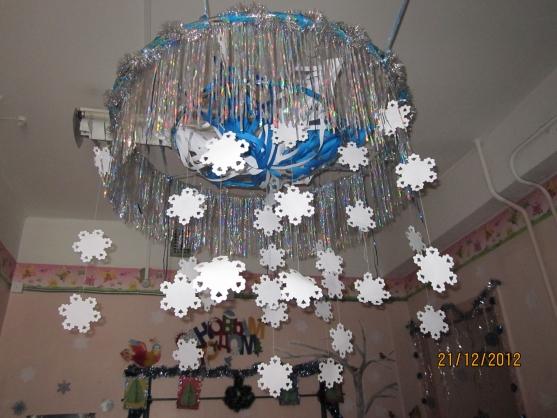 Новогоднее украшение своими руками в детском саду 68