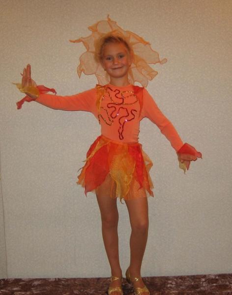 Как сшить костюм огня для девочки 13