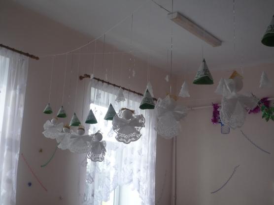 Украшение детской веранды на новый год