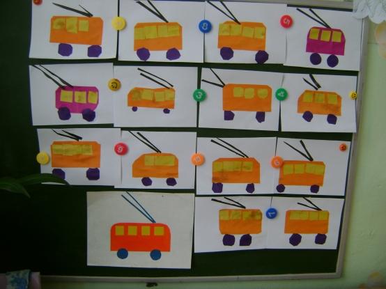 Аппликации по теме транспорт в средней группе