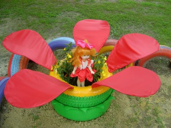 Оформление участка в детском саду летом