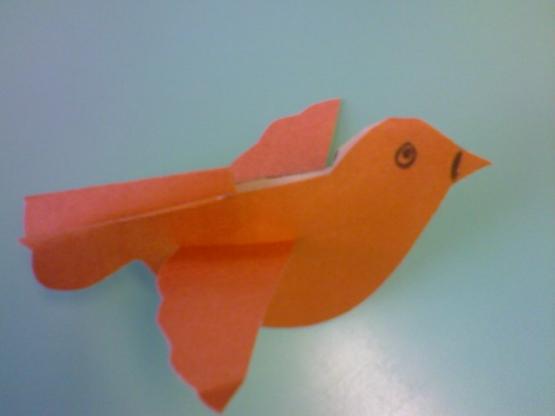 Как сделать из бумаги птичку на палочке из бумаги
