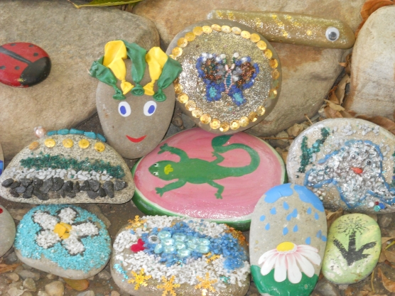 Поделки из камней для детского сада детям