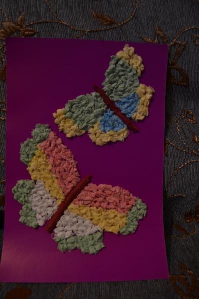 Бабочки из салфеток своими руками с пошаговой инструкцией 15