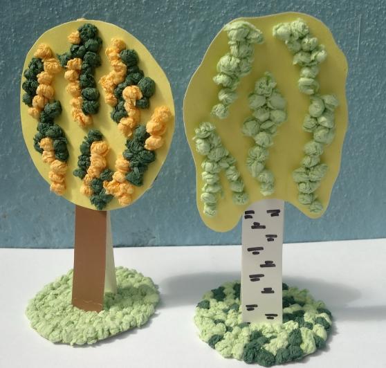Поделки с детьми на тему деревья 83