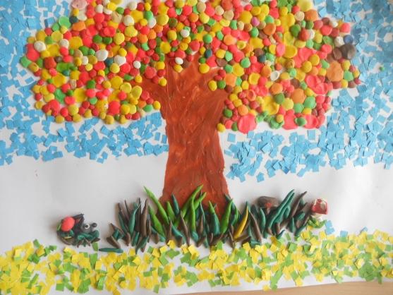 Поделки из пластилина в детский сад на тему осень 78