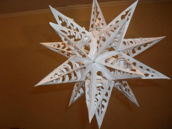 Новогодние поделки из бумаги своими руками звезда