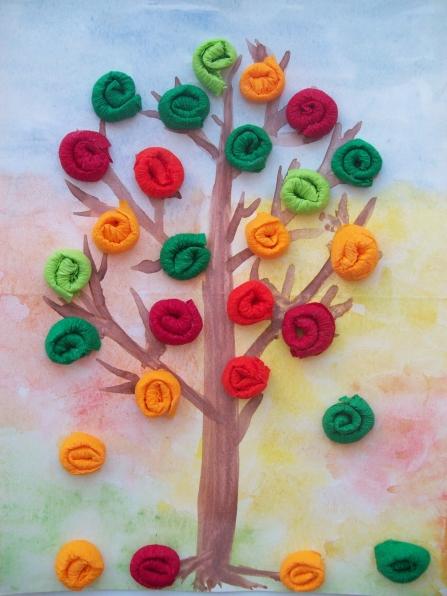 Осеннее дерево своими руками для детского