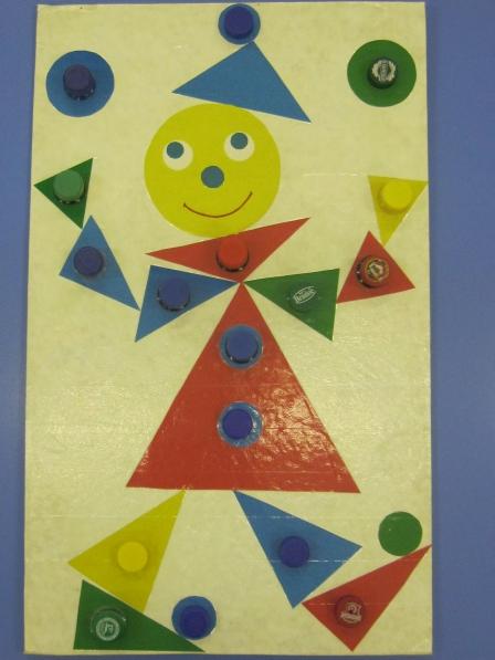 Поделка из геометрических фигур 3
