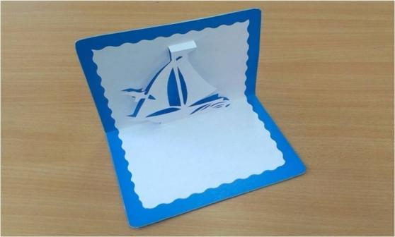 Мастер класс объемная открытка кораблик