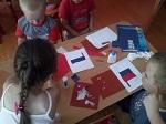 Конспект занятия по аппликации в средней группе «Флаг России»