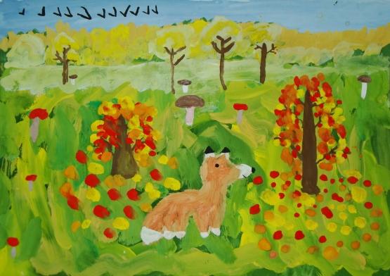 Осенняя трава рисунок