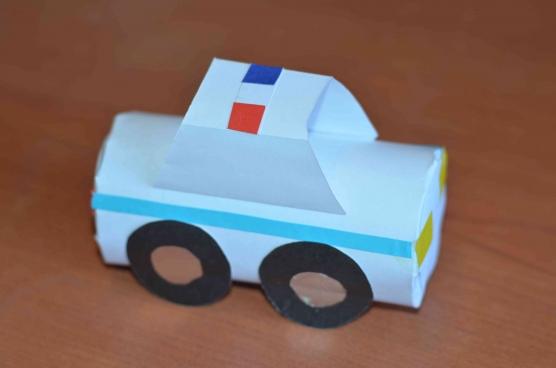 Машинки своими руками из бумаги с детьми 814