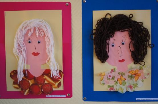 Открытка с лицом мамы, картинки для детей