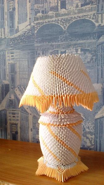 Модульное оригами схемы сборки настольная лампа