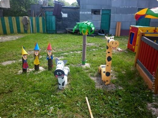 Детская площадка из пластиковых бутылок своими руками фото 25