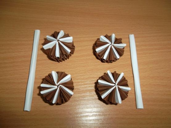 Модульное оригами торт схема сборки фото 82