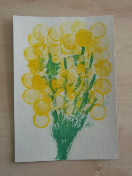 Февраля, рисование открытки для мамы нетрадиционные методы