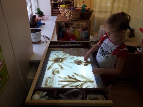 Как сделать стенд для рисования песком