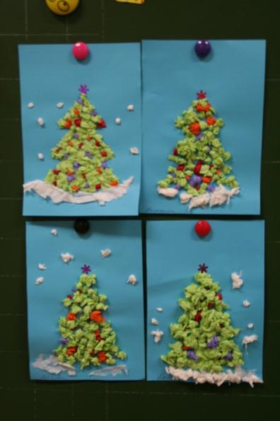 Новогодняя открытка в средней группе детского сада