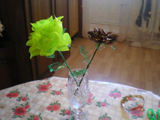Цветы из бросового материала своими руками мастер класс