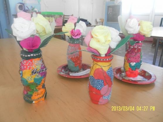 Поделки своими руками в садик ваза 97