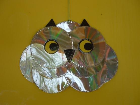 Поделки из дисков в детском саду своими руками фото