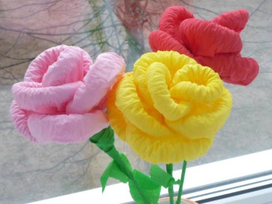 Роза из салфетки своими руками поэтапно