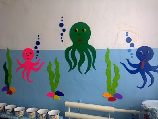 Украшение стен группы в детском саду своими руками
