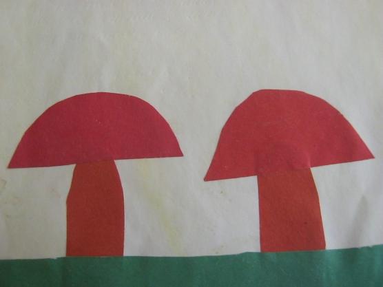 Конспект аппликация на лесной полянке выросли грибы