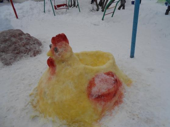 Снежные фигуры своими руками петуха