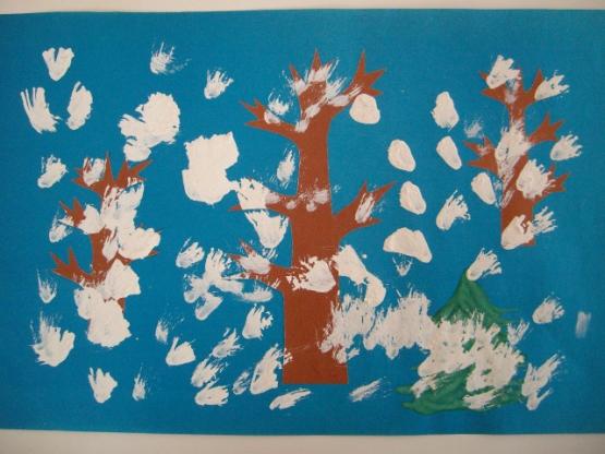 Творчество детей группы раннего возраста «Зима»