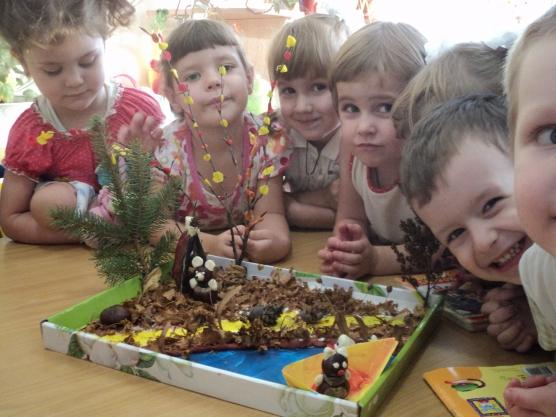 Поделки с детьми младшего возраста из природного материала