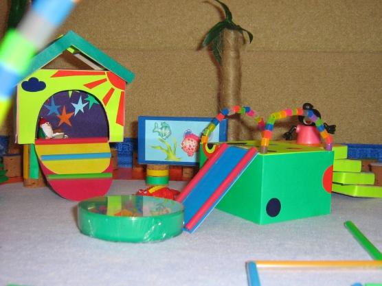 Как сделать макет детской площадки из подручных средств